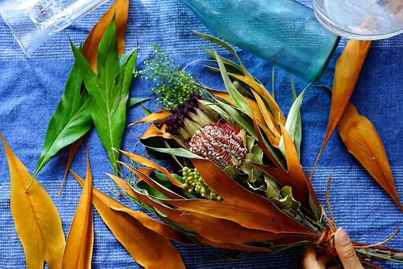 アフリカの草花の小さなカウカブーケ