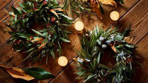 〈11月〉イスラエルの草花のクリスマスリース