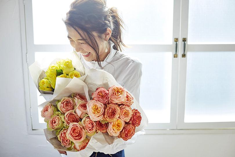 ソジャンミ農園から届いた、気持ちを伝えるバラの花束。