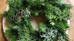 モミの木の大自然のリース