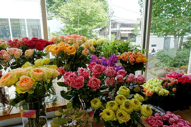 イベント中に展示した花材
