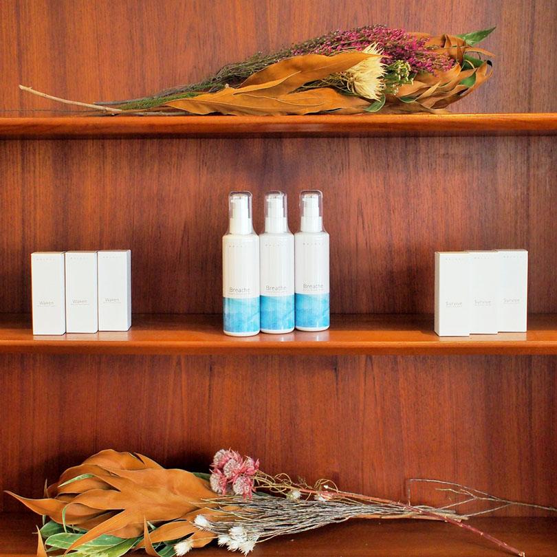 世界の花屋のなかのことVol.11 新しい化粧品ブランド「精油とわたし」の発表イベントに世界の花屋が花材を提供しました。
